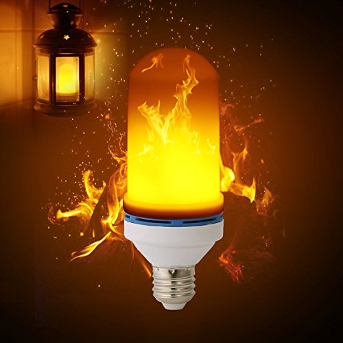 Flame Bulb,LANMU Flickering Flame Light Bulb Fire Bulb,1900K-2000K 100LM Atmosphere Lighting with 99 Pcs 2835 LED Beads,LED Flame Effect Decorative Light for Home,Party,Bar,Christmas Decor (Lighting Torch Wall)