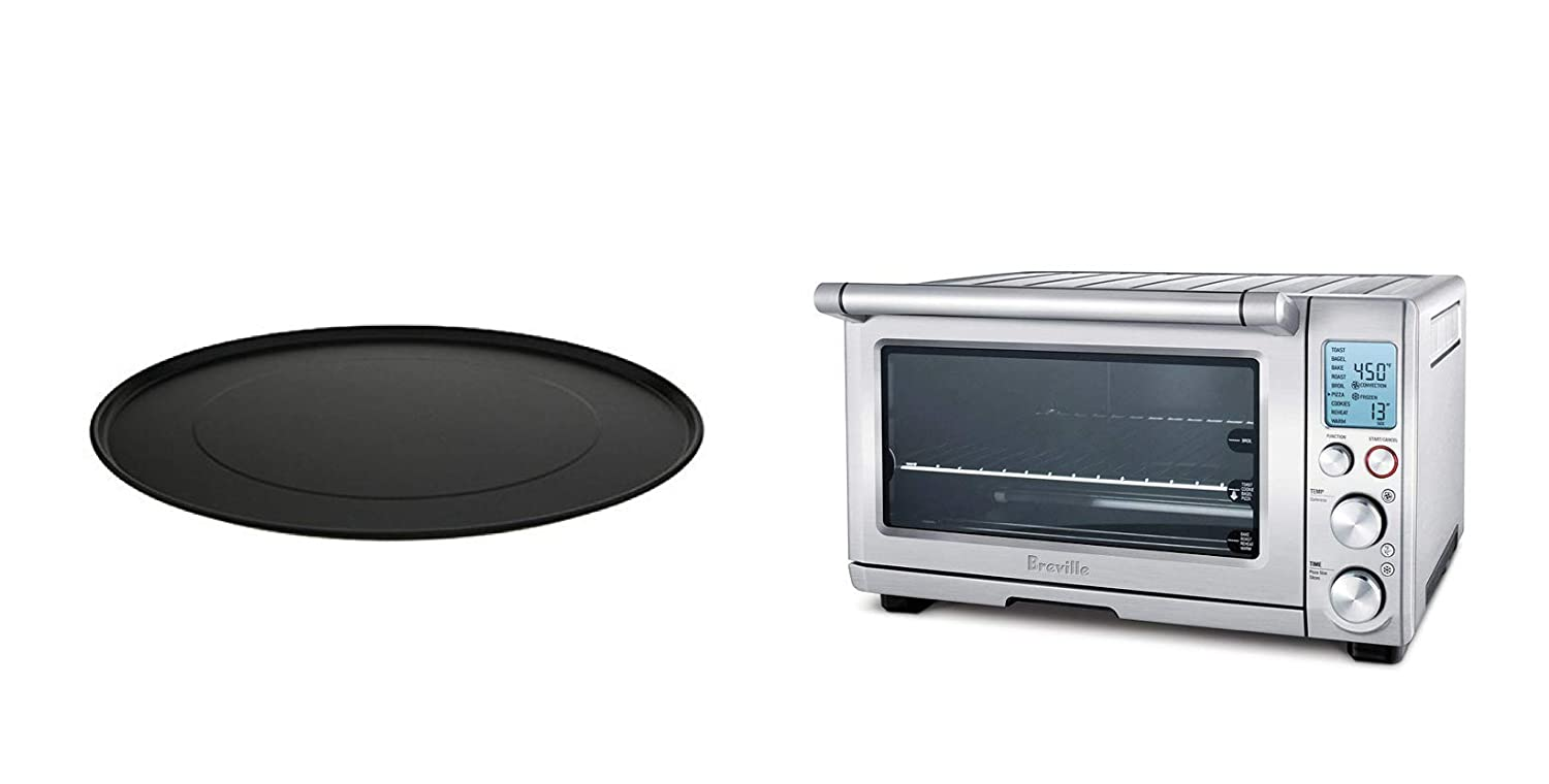 Breville Smart Oven 1800-Watt Convection Toaster Oven with Element IQ Silver with 13-inch Pizza Pan, Bundle