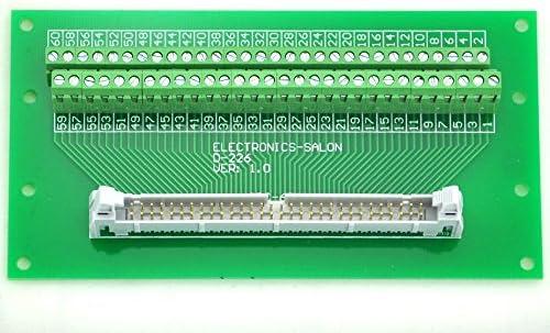 Breakout bloque de terminales. electronics-salon idc-30/Riel DIN montado m/ódulo de interfaz