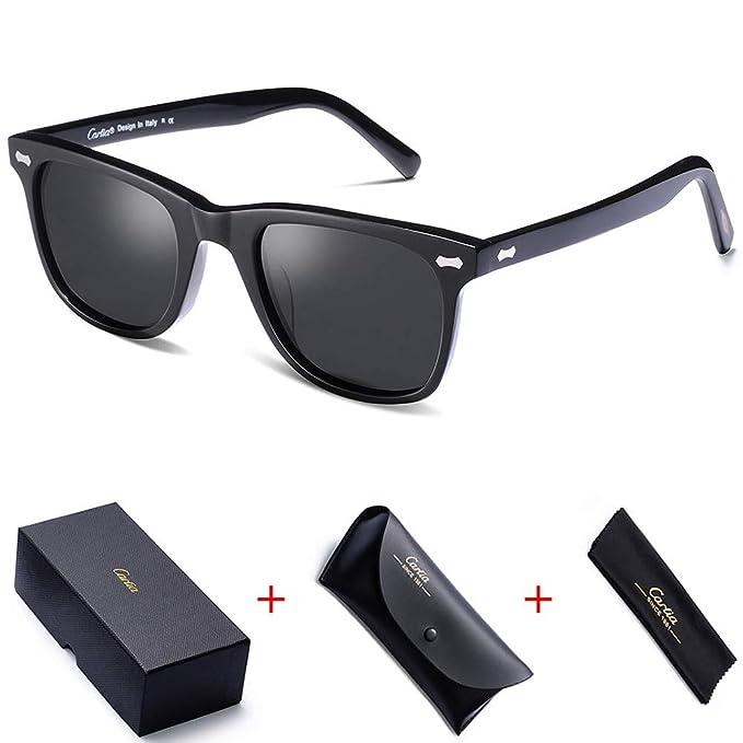 Carfia Vintage Gafas De Sol Hombre Polarizadas 100% UV400 ...