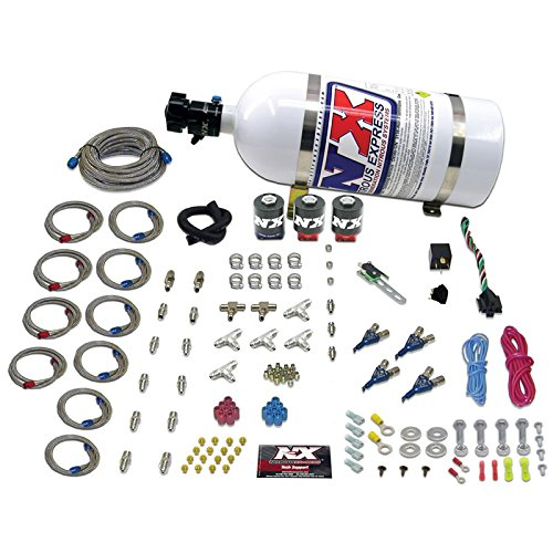 Direct Port Nitrous Oxide - Nitrous Express 80044-10 100-250 HP Air Cooled 4-Cylinder Gasoline Piranha Direct Port System with 3 Solenoids with 10 lbs. Bottle for VW