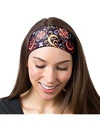 Yoga Headbands Women Men - Wide Non Slip Design Headband Running Yoga  Fitness Fashion Other Workouts 76bcec0b15f