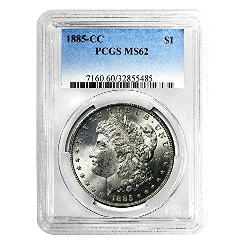1885 CC Morgan Dollar $1 MS-62 PCGS