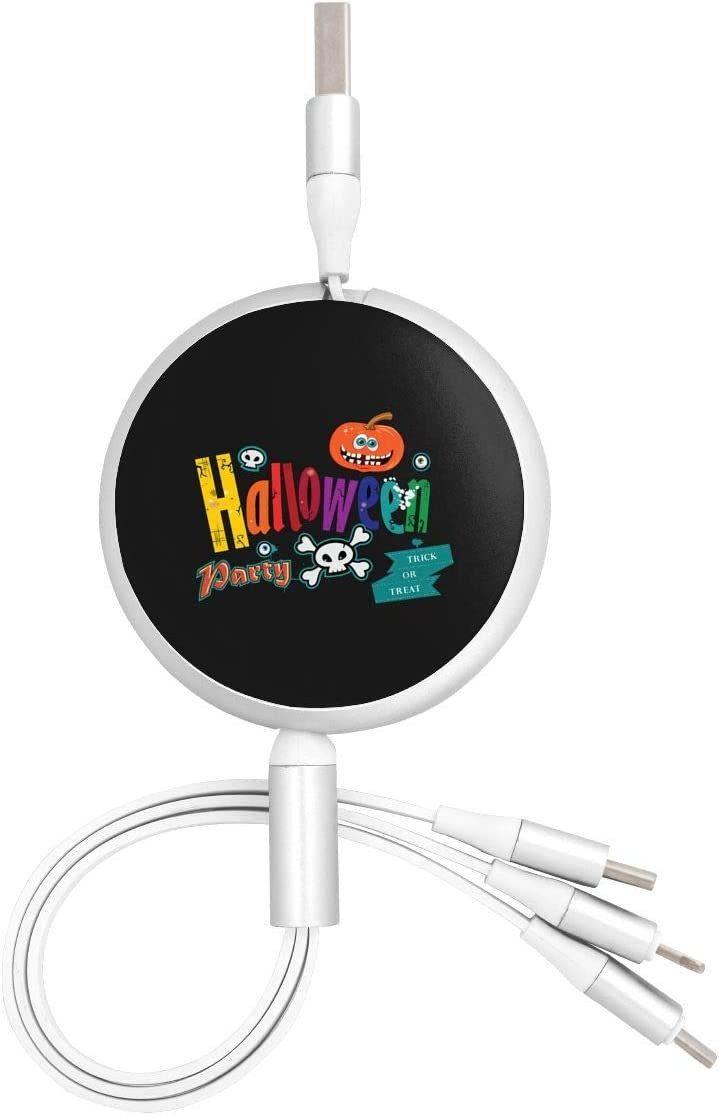 for Mobile Phones and Tablets Halloween Trick Or Treat Universal 3 in 1 Multi-Purpose USB Cable Charging Cable Adapter Micro USB Port Connector