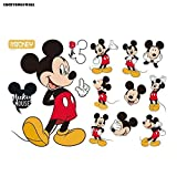 Luckydog@wall Mickey/Mickey Mouse Wall Stickers Art Bedroom Home Decorations Wall Decals-0525000 (MickeyA)