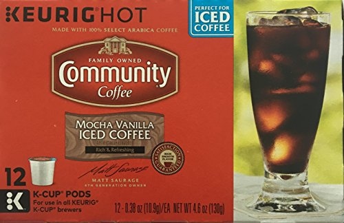 Community Mocha Vanilla Iced Coffee K-Cups, Pack of 12 (K Cups Iced Coffee compare prices)