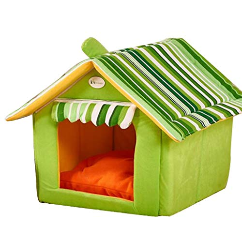 Playpens Houses & Habitats Four Seasons Universal Warm Dog House Small and Medium Dog Pet Tent Home Indoor Pet Tent Spring and Winter Washable Pet Nest Outdoor Collapsible Pet Room