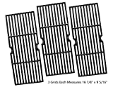 gas grill grates - Vicool HyG876C Cast Iron Cooking Grid Replacement for Select Gas Grill Models by Charbroil, Kenmore and Others, Set of 3