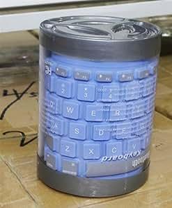 Euroge Tech Wireless Waterproof Bluetooth Silicone Keyboard for iPad/ iPhone/ PDA / PC / Notebook (Blue)