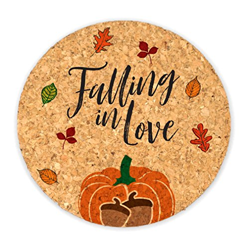 Ducky Days Cork Coaster Wedding Favors, Falling In Love, Round ()