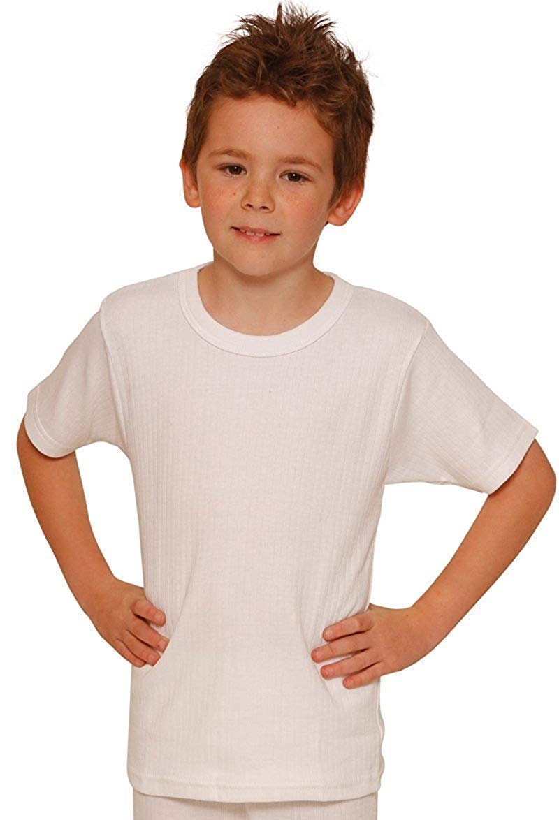Octave 12 Pack Boys Thermal Underwear Short Sleeve T-Shirt/Vest/Top (3-5 yrs [Chest: 20-22 inches], White) by Octave