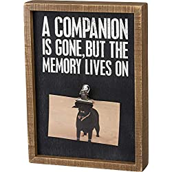 Primitives by Kathy Pet Memorial Photo Frame A Companion is Gone but The Memory Lives On - 8 inch x 11 inch Frame Holds 5 inch x 3 inch Photo