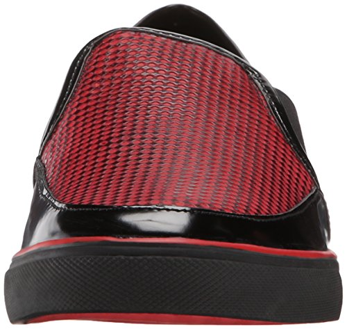 Nine West Womens Bonkers Läder Mode Sneaker Röd / Svart Multi