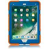 iPad Mini 4 Case, KIDSPR New Design Rainproof Dirtproof Shockproof Cover Case With Kickstand and Extreme Heavy Duty Stand Super Protection for Apple iPad Mini 4 (iPad Mini 4, Orange Blue)