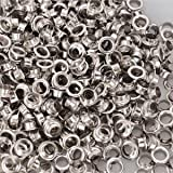 1000 Package 1/2'' #4 Nickel Finish Grommets & Washers Hand Press Tool Die Eyelet w/ Compact Design for Appliances Industry Clothing Posters Advertisement Tags Signs Bags Curtains Belts Dresses Shoes