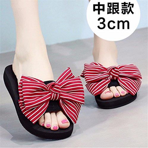 c moda Pajarita verano SHOES playa aire lady libre FLYRCX casual zapatillas antideslizante de cool artesanal al nZHIBqT
