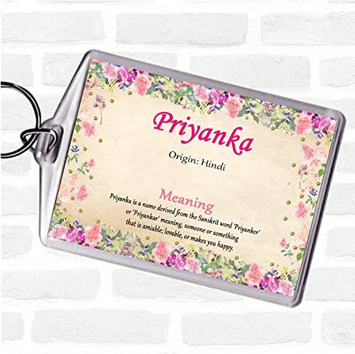 Priyanka Name Meaning Bag Tag Keychain Keyring Floral Amazon Co Uk Office Products Priyanka is a popular female given name in hindu and buddhist cultures. amazon co uk