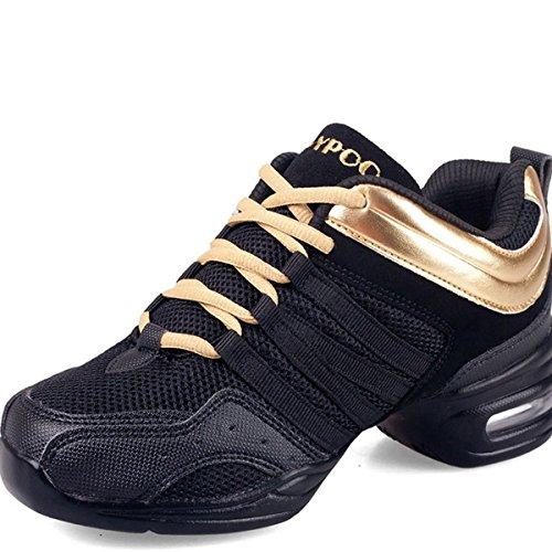 Camminata Sneaker Ladies Vecjunia Trainer up Da Ballo Oro Scarpe Corsa Lace FwAxfq70