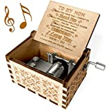 You are My Sunshine Music Box, Gift for Mom from Daughter, Wood Laser Engraved Vintage Music Boxes, Unique Best Gift for…