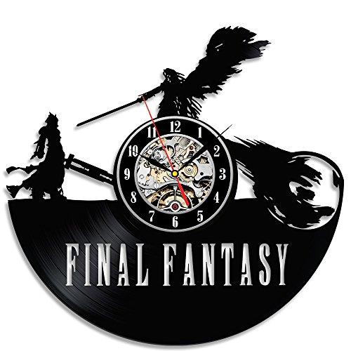 Record Vinyl Final Scratch (Final Fantasy Theme Black Vinyl Beautiful Wall Clock)