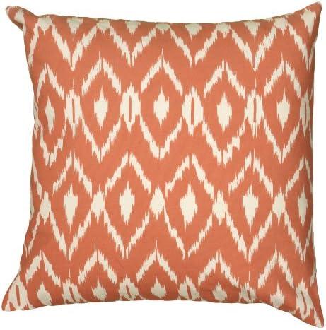 Rizzy Home T06150 Decorative Pillow, 18 X18 , Orange