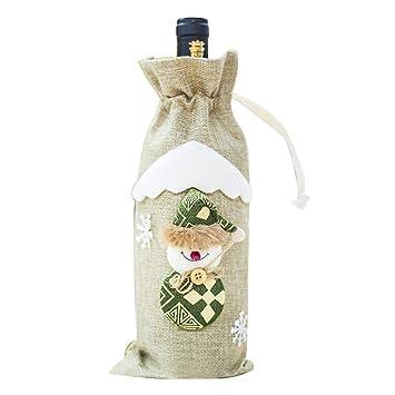 Amazon.com: Bolsas para botellas de vino de Navidad, de ...