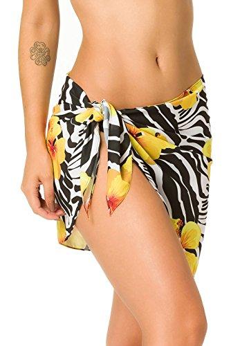c8b0f72b79 THE MESH KING Coqueta Swimwear Chiffon Cover up Beach Sarong Pareo Canga Swimsuit  Wrap