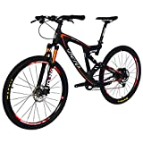 BEIOU Carbon Dual Suspension Mountain Bicycles All Terrain 27.5 Inch MTB 650B Bike SHIMANO Breaking LTWOO 11 Speed 12.7kg T700 Frame Matte 3K CB22
