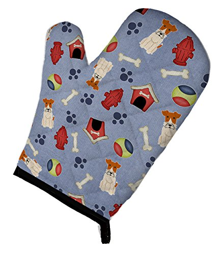 Caroline's Treasures BB2714OVMT Dog House Collection Wire Fox Terrier Oven Mitt, 12