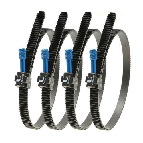 CHROSZIEL C-206-30X4 Flexi-Gear for DSLR Type Lenses of 60 to 120mm Diameter, Set of Four (Black)