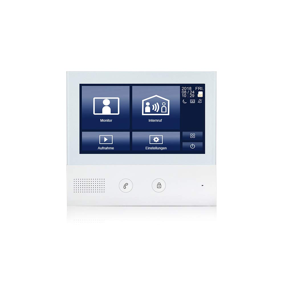 GVS 2-Draht//IP Video T/ürsprechanlage 2X 7 Zoll Touchscreen Unterputz T/ürstation Foto-//Video-Speicher Handy-App AVS7038-7071-22 T/ür-/Öffner-Funktion 2 Familienhaus Set 2 MP 170/° Kamera
