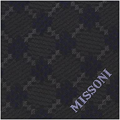 Missoni U5638 Grey//Navy Diamond 100/% Silk Tie for mens