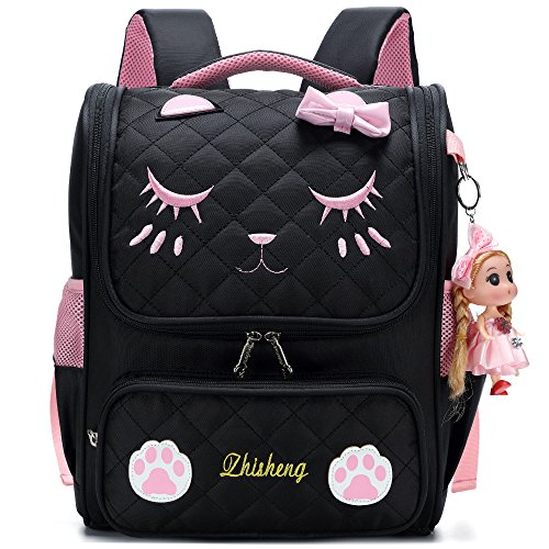 Personalized Book Bags For Girls - Waterproof Princess School Backpacks for Girls