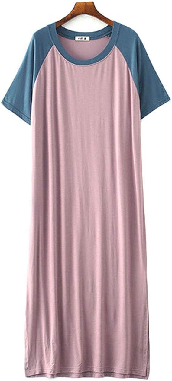 Camisón Mujer Verano Pijama de Algodón Manga Corta Camisón Vestido Camisones Mujer Talla Grande (1#, Talla única): Amazon.es: Ropa y accesorios