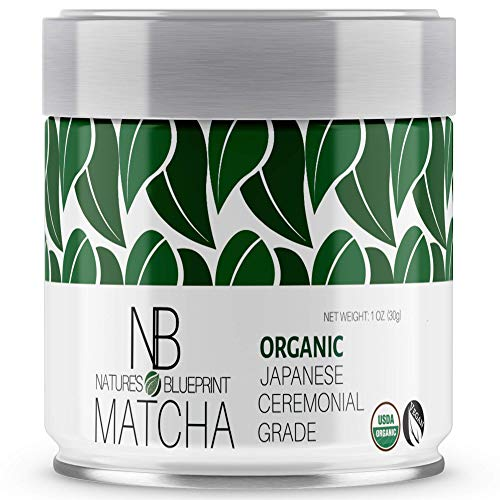 Matcha Green Tea Powder-Organic Japanese Ceremonial Grade Straight from Uji Kyoto, Premium Quality-1 oz Tin contains Powerful Antioxidant Energy for Non-GMO Health. ()