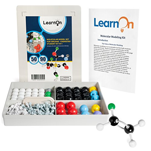 Organic Chemistry Molecular Model Kit Set for Ochem Students with User Guide - 140 Pieces (Kit Structure)