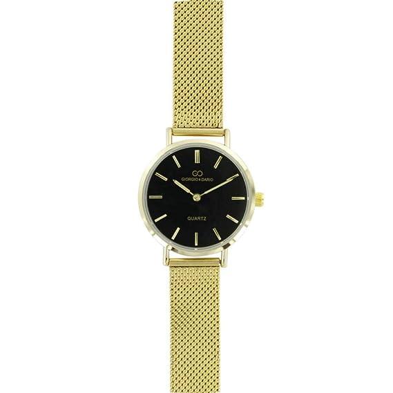 Magnifique Reloj Mujer Acero Milanais Dorado Gorgio  Amazon.es  Relojes 2279f08ff25b