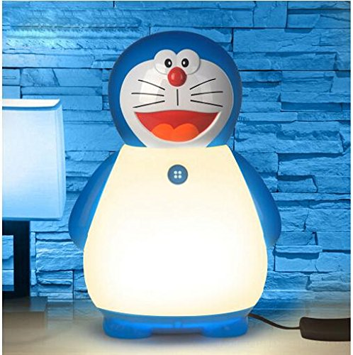 Qxj bambini ventre del cartone animato lampada gatto kt nanna