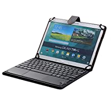 [SCIMIN] Universal 9 Inch to 10.5 Inch Bluetooth TrackPad Keyboard Cover TouchPad Keyboard Case for Android & Windows Tablets such as Lenovo ThinkPad Tablet 2 10.1, Samsung Galaxy Tab A 9.7, Samsung Galaxy Tab S 10.5, Samsung Galaxy Tab S2 9.7, Samsung Galaxy Tab Pro 10.1, Samsung Galaxy Note 10.1 2014 Edition, Asus Memo Pad 10, Asus ZenPad 10, Google Nexus 10, Huawei MediaPad 10 Link, Sony Xperia Z4 Tablet, Sony Xperia Tablet S, Sony Xperia Z2 Tablet, LG G Pad 10.1 etc......(Black)