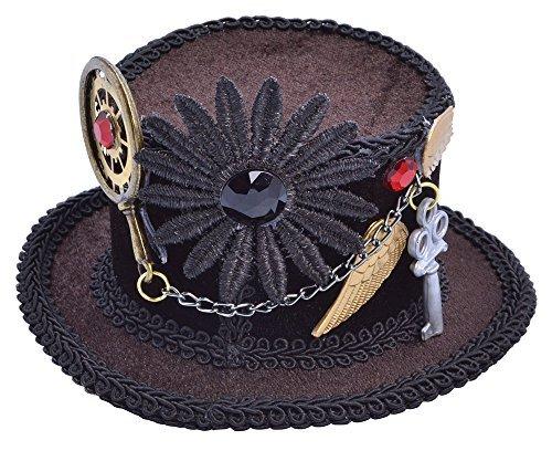 ADULT MINI STEAMPUNK 1920s TOP HAT VICTORIAN FANCY DRESS by Bristol Novelties