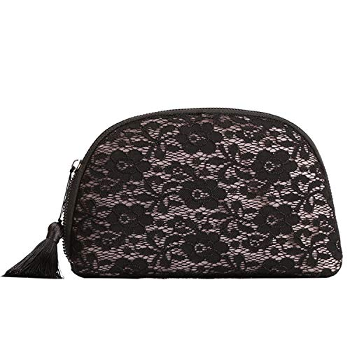 Lace Makeup Bag - Yisheng Cosmetic Bag, Women Lace Clutch Purses with Tassel Zipper,Organizer Multifunction Toiletry Bag For Daily,Travel,Party,Shopping (Lace)