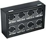 WOLF 456902 Viceroy 8 Piece Watch Winder with Cover, Black