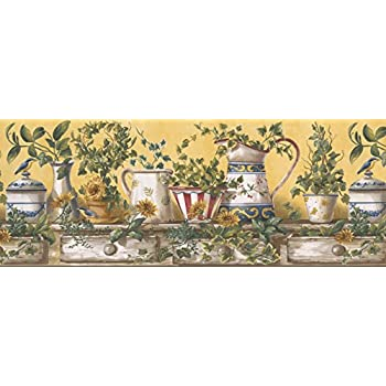 Wallpaper Border Kitchen Wallpaper Border 10151 Ffm Amazon Com