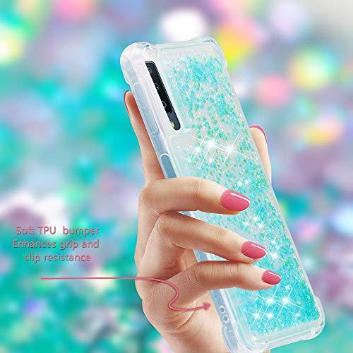 Galaxy A7 2018 Case, Ranyi Liquid Glitter Case [360 Full