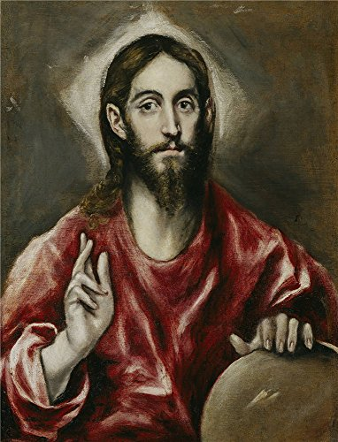 Oil Painting 'El Greco The Savior 1610 14', 12 x 16 inch / 30 x 40 cm , on High Definition HD canvas prints is for Gifts And Bar, Dining Room And Laundry Room Decoration, order online
