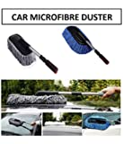 Spartan Car Cleaning Microfiber Mop Duster with Grip Extendable Handle (Multicolor)