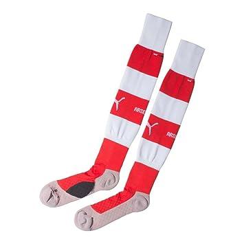 d5228792e9f05e Arsenal FC Puma red white home mens adult hooped football socks 2014-15 2  sizes