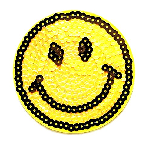 Bag Denim Toy (Nipitshop Patches Cute Smiley face Sequin cartoon kids for Clothes Backpacks T-shirt Jeans Skirt vests scarf Hat Bag)