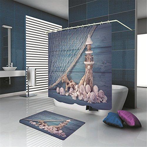 MMDN Rideau de douche dcoratif phare 71 71 pouces (in) rideau
