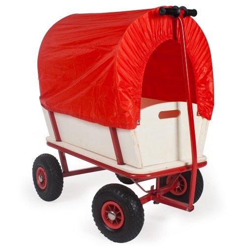 99 opinioni per TecTake Carretto Carrello a mano da trasporto rimorchio in legno Tavolo per